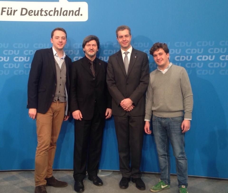 v.l.n.r. Christoph Brzezinski, Joachim Zeller, Stefan Evers und Lukas Krieger